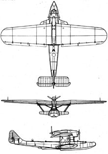 Plan 3 vues du Dornier Do 18