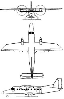 Plan 3 vues du Dornier Do 228
