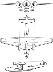 Plan 3 vues du Dornier Do 24
