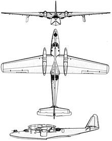 Plan 3 vues du Dornier Do 26