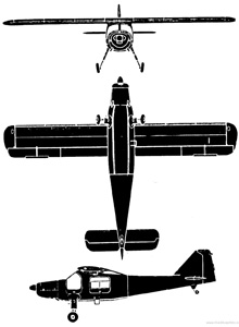 Plan 3 vues du Dornier Do 27