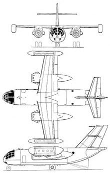 Plan 3 vues du Dornier Do 31