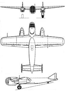 Plan 3 vues du Dornier Do 317