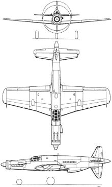 Plan 3 vues du Dornier Do 335 Pfeil