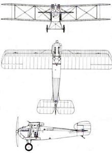Plan 3 vues du Sopwith 5F.1 Dolphin