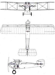 Plan 3 vues du Sopwith 5F.1 Dolphin