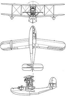 Plan 3 vues du Aichi E10A Hank