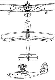 Plan 3 vues du Aichi E11A 'Laura'