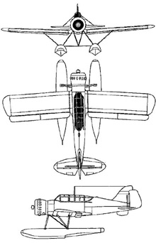 Plan 3 vues du Kugisho E14Y  'Glen'