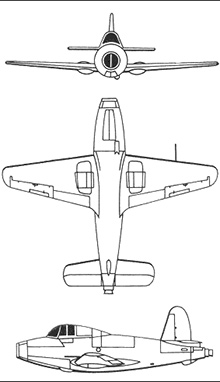 Plan 3 vues du Gloster E28/39 Whittle