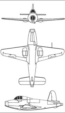 Plan 3 vues du Gloster E28/39 Whittle