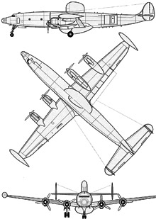 Plan 3 vues du Lockheed EC-121 Warning Star