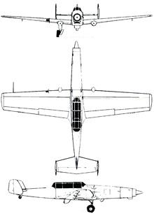 Plan 3 vues du EKW (K+W) C-36 Schlepp