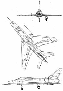 Plan 3 vues du North American F-100 Super Sabre