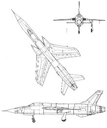 Plan 3 vues du Republic F-105 Thunderchief