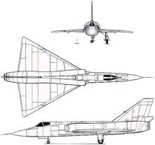 Plan 3 vues du Convair F-106 Delta Dart