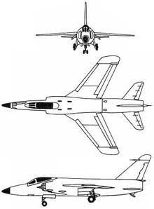 Plan 3 vues du Grumman F-11 Tiger