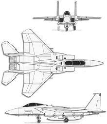 Plan 3 vues du McDonnell F-15 Eagle