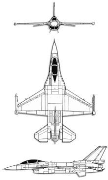 Plan 3 vues du Mitsubishi F-2