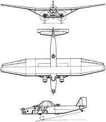 Plan 3 vues du Farman F.222
