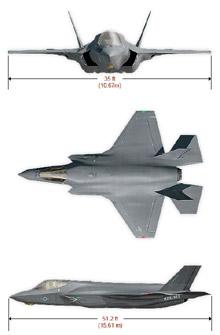 Plan 3 vues du Lockheed-Martin F-35 Lightning II