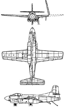 Plan 3 vues du Douglas F3D Skyknight