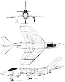 Plan 3 vues du McDonnell F3H Demon