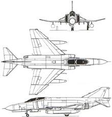 Plan 3 vues du McDonnell F-4 Phantom II