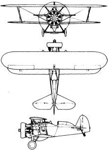 Plan 3 vues du Boeing F4B