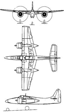 Plan 3 vues du Grumman F7F Tigercat