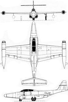 Plan 3 vues du Northrop F-89 Scorpion
