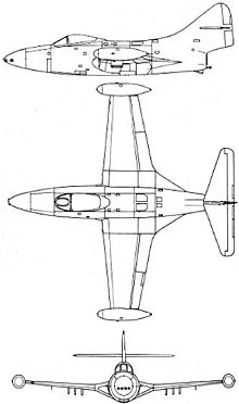 Plan 3 vues du Grumman F9F Panther