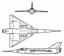 Plan 3 vues du Fairey  Delta 2