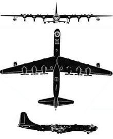 Plan 3 vues du Convair GRB-36 « FICON » & Republic GRF-84