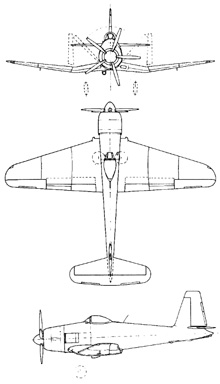 Plan 3 vues du Blackburn B-48 Firecrest