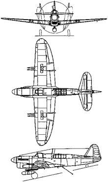 Plan 3 vues du Fairey  Firefly