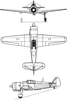 Plan 3 vues du Koolhoven FK-58