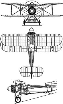 Plan 3 vues du Fairey  Flycatcher
