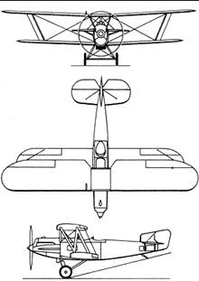 Plan 3 vues du Fairey  Fox