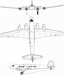 Plan 3 vues du Focke-Wulf Fw 200 Condor