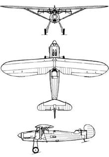 Plan 3 vues du Focke-Wulf Fw 56 Stösser