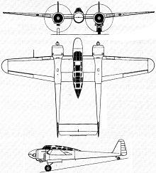 Plan 3 vues du Fokker G.I