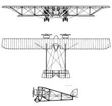 Plan 3 vues du Caudron G.4