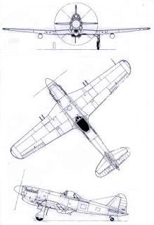 Plan 3 vues du Fiat G.59