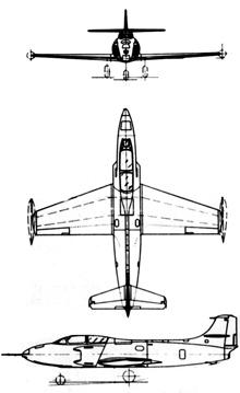 Plan 3 vues du Fiat G.80/G.82