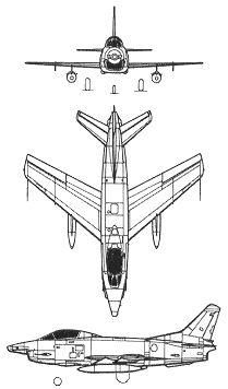 Plan 3 vues du Fiat G.91