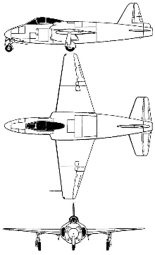 Plan 3 vues du Gloster GA.2 Ace