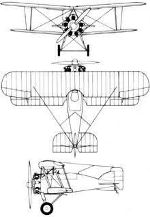 Plan 3 vues du Gloster Gamecock