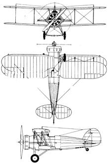 Plan 3 vues du Gloster SS.19B Gauntlet