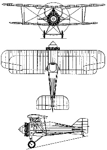 Plan 3 vues du Gloster Grebe